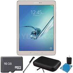 Galaxy Tab S2 9.7-inch Wi-Fi Tablet (Gold/32GB) 16GB MicroSD Card Bundle