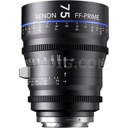 75MM Xenon Full Frame 4K Prime XN 2.1 / 75 Feet Lens for Sony E Mounts