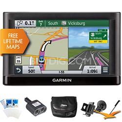 "Nuvi 65LM Essential Series GPS Nav w/ Lifetime Maps 6"" Display Ultimate Bundle"