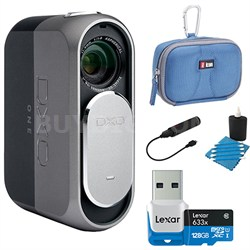 ONE 20.2MP Digital Connected Camera for iPhone, iPad + 128GB Lexar Memory Bundle