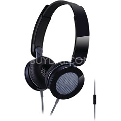 Sound Rush On-Ear Headphones, Black/Gray (RP-HXS200M-K)