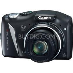 Powershot SX130 IS 12MP 12x Zoom Digital Camera w/ 720p HD Video - Refurbished