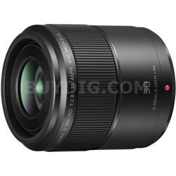 LUMIX G MACRO 30mm / F2.8 ASPH. Lens with MEGA O.I.S. - H-HS030