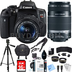 EOS Rebel T6i Digital SLR Camera Kit with EF-S 18-55mm and 55-250mm Lens Bundle