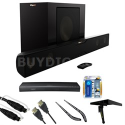 Bluetooth Soundbar with Wireless Subwoofer - Satin Black w/ HD Blu-ray Bundle