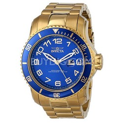 Men's Pro Diver 48.8mm Stainless Steel Gold Blue Dial PC32 Quartz 15347