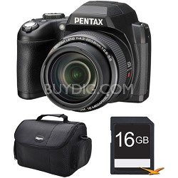 Pentax XG-1 52X Megazoom 16MP Digital Camera 16GB Bundle (Black)