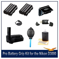 Fully Loaded Pro Battery Grip Kit for the Nikon D3000