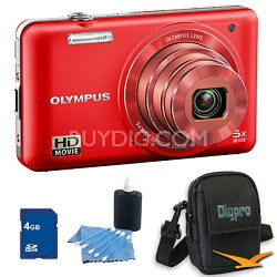 4 GB Kit VG-160 14MP 5x Opt Zoom Red Digital Camera - Red
