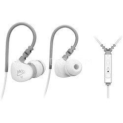 M6P Sports In-Ear Headphones w/ Universal Inline Mic, Remote, & Volume (White)