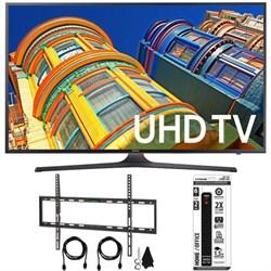 "UN70KU6300 - 70"" Class KU6300 6-Series 4K Ultra HD TV Flat Wall Mount Bundle"