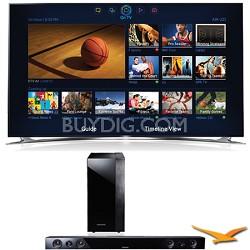 "UN46F8000 46"" 1080p 240hz 3D Ultra Slim LED WiFi Smart HDTV Sound Bar Bundle"