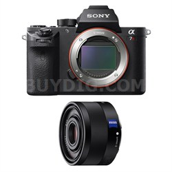 a7R II Mirrorless Interchangeable Lens Camera Body with F2.8 35mm Lens Bundle