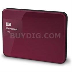 My Passport Ultra 1 TB Portable External Hard Drive, Berry - OPEN BOX