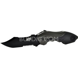 SWMP5LS M&P Linerlock Knife MAGIC Assisted Open 40% Serrated Drop Point Blade