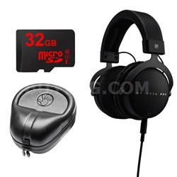 DT 1770 PRO Headphones w/ 32GB MicroSD Card & Headphone Case