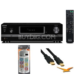 Receiver (Black) (STRDH130) with HookUp Bundle