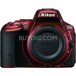 D5500 Red DX-format Digital SLR Camera Body