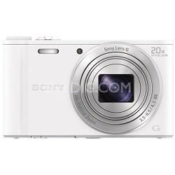 Cyber-shot DSC-WX350 Digital Camera (White)