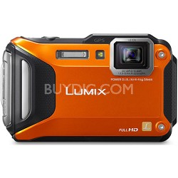 LUMIX DMC-TS6 WiFi Enabled Tough Adventure Orange Digital Camera