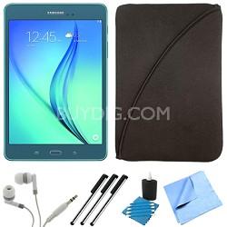 Galaxy Tab A SM-T550NZBAXAR 9.7-Inch Tablet (16 GB, Smoky Blue) Bundle