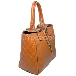 Tote Bag with PU String Closure (Cognac) - 2023CGN