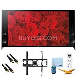 "XBR79X900B - 79"" 120Hz 3D LED Premium 4K Ultra HD TV Plus Mount & Hook-Up Bundle"