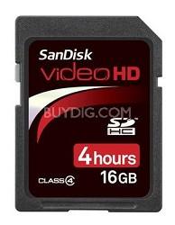 240 Minutes Video / 16 GB Ultra II SDHC High Performance Video HD Memory Card