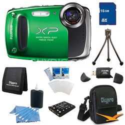 Finepix XP50 14MP CMOS Digital Camera 16 GB Bundle (Green)