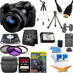 Cyber-shot DSC-RX10 Digital Camera 64 GB SDHC Card and Tripod Bundle