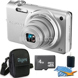 ST65 14.2 MP Silver Compact Digital Camera 4 GB Bundle