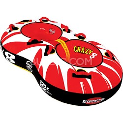 Crazy 8 Towable Double Rider Water Tube