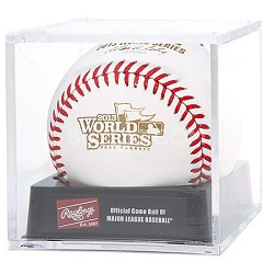 Official 2013 World Series Game Baseball in Cube