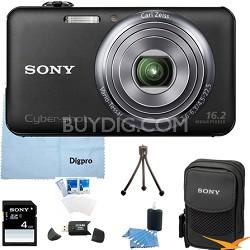 DSC-WX70/B - 16.2MP Exmor R CMOS  Camera 3 inch LCD 5x Zoom (Black) 4GB Bundle