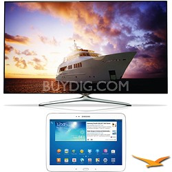 "UN55F7500 - 55"" 1080p 240hz 3D Smart Wifi LED HDTV - 10.1"" Galaxy Tab 3 Bundle"