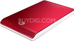 FreeAgent Go 320 GB USB 2.0 Portable External Hard Drive (Red)