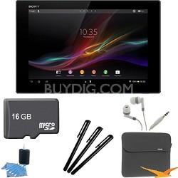 "Xperia Black 10.1"" 32GB Tablet Z 16GB Memory Card Bundle"
