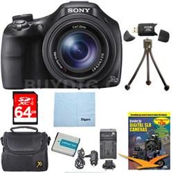 DSC-HX400V/B 50x Optiical Zoom 4K Stills Digital Camera 64GB Kit