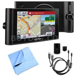 "dezlCam LMTHD 6"" GPS Truck Navigator w/ Dash Cam AC Adapter Bundle"