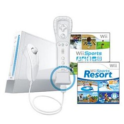 Wii System W/Resort & Remote Plus White Bundle