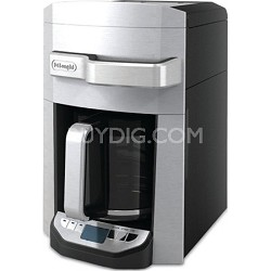 14 Cup 24 Hour Programmable Front Access Stainless Steel Drip Coffee Maker AS IS