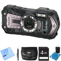WG-30W Digital Camera with 2.7-Inch LCD Carbon Gray 4GB Bundle