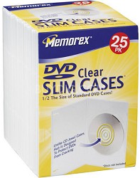 Slim DVD Clear Storage Cases (25-pack)