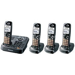 KX-TG9344PK DECT 6.0 Expandable Digital Cordless Phone with 4 Handsets