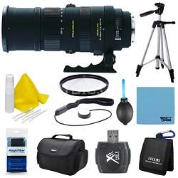 150-500mm F/5-6.3 APO DG OS HSM Autofocus Lens For Canon EOS Lens Kit Bundle
