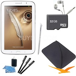 """8"""" Galaxy Note 8.0 16GB Exynos 1.6 GHz Quad-Core Processor White Tablet Kit"""