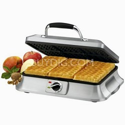 WAF-6 Traditional-Style 6-Slice Waffle Iron, Brushed Stainless Steel
