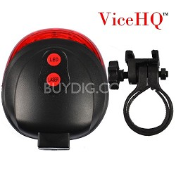 Super Bright 5 LED's Laser Taillight for Bicycle Safety - Red Light