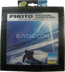 E03AE Mountain Snow Four Filter kit & cases