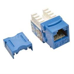 Cat6/Cat5e 110 Style Punch Down Keystone Jack in Blue - N238-025-BL